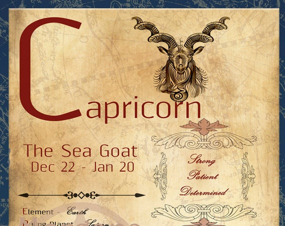 CAPRICORN ZODIAC, Digital Download