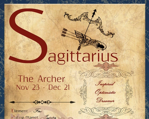 SAGITTARIUS ZODIAC, Digital Download