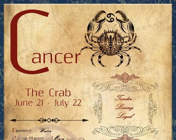 CANCER ZODIAC, Digital Download