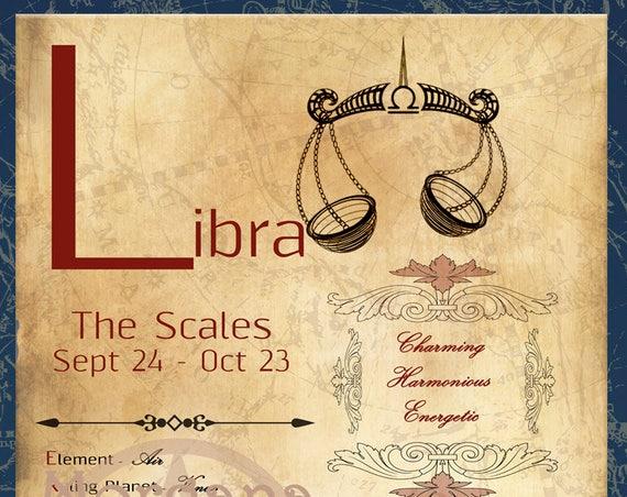 LIBRA ZODIAC, Digital Download