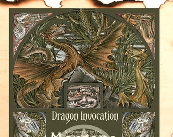 DRAGON INVOCATION , Digital Download, Dragon, Book of Shadows ,Grimoire, Scrapbook,  Wicca, Pagan, Witchcraft, White Magick, Magick Spell