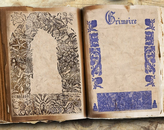 Medieval 3 Blank Pages for Book of Shadows