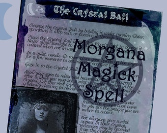 THE CRYSTAL BALL, Digital Download, Book of Shadows Page, Grimoire, Scrapbook,  Wicca, Pagan, Witchcraft, White Magick, Magick Spell