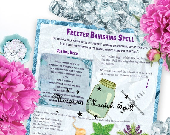 Freezer Banishing Spell