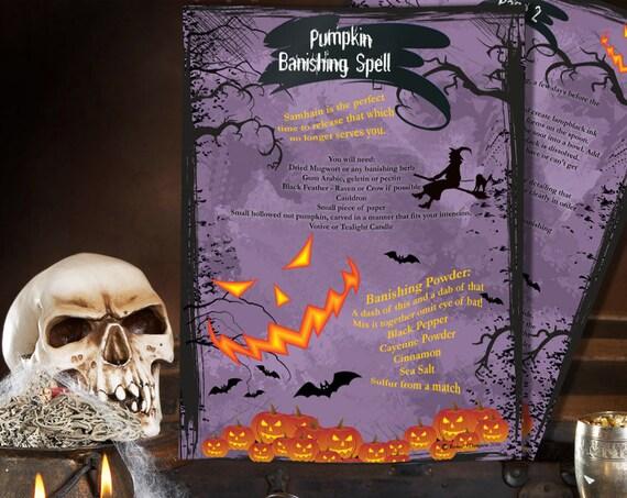 Samhain Pumpkin Banishing Spell