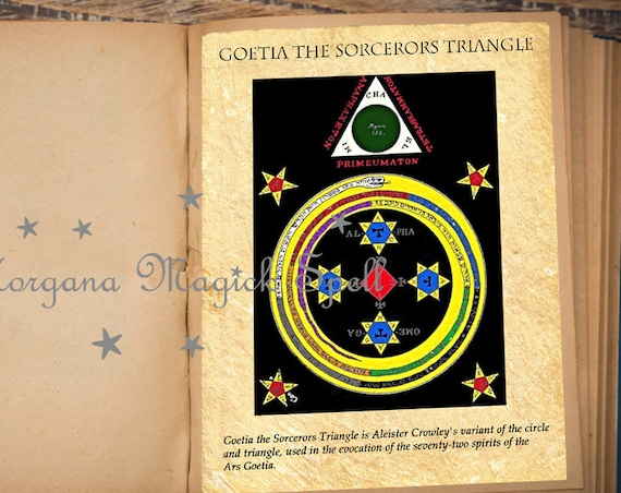 GOETIA the SORCERERS TRIANGLE Ancient Occult Parchment Instant Download