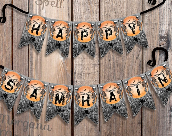 Happy Samhain Banner - Printable Banner
