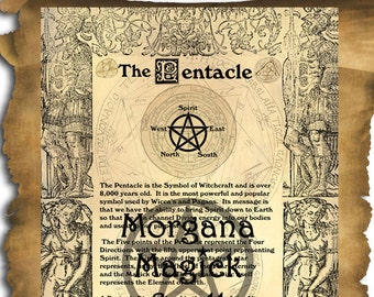 THE PENTACLE , Digital Download, Book of Shadows Page, Pentagram, Grimoire, Scrapbook,  Wicca, Pagan, Witchcraft, White Magick, Magick Spell