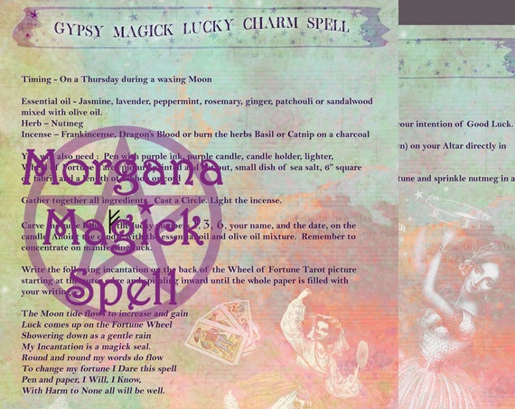 Gypsy Magick Lucky Charm Spell