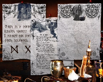 WITCHCRAFT  3 Pages,  Digital Download, Blank Book of Shadows Pages, Book of Shadows, Grimoire, Scrapbook, Spells