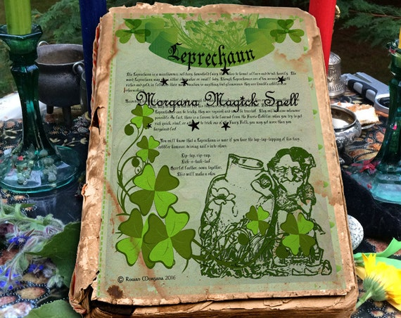 The Leprechaun Faerie One Page Instant Download