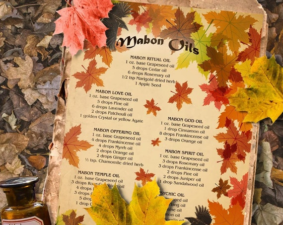 Mabon Magick Oils