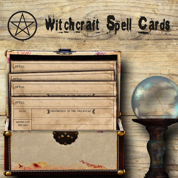 Witchcraft Spell Cards - Printable