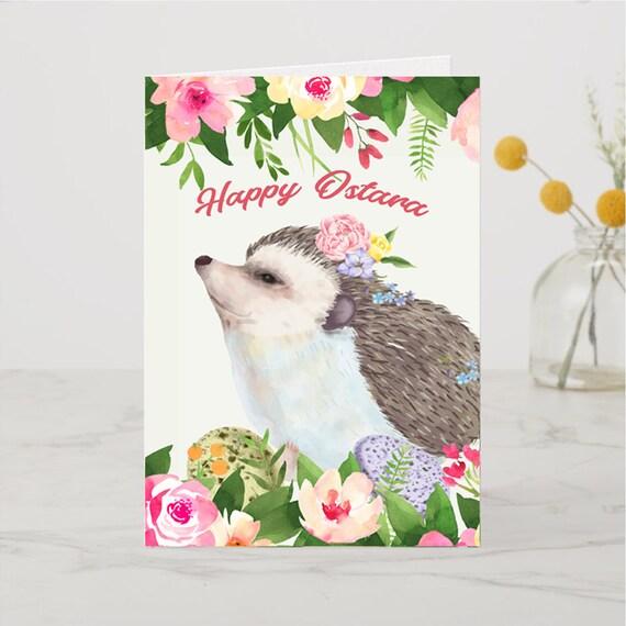 HAPPY OSTARA Greeting Card, Printable Instant Download
