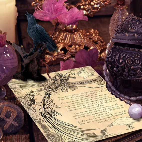 ALTAR CLEANSING SPELL for Wicca, Witchcraft, Pagan, Book of Shadows -  Instant Download