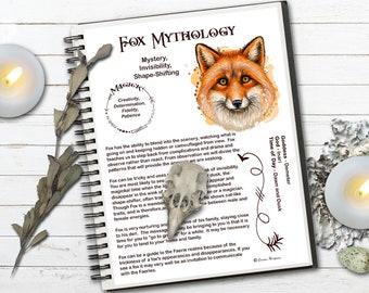 FOX MAGICK Myths & Correspondences   Fox Spell Magick   Fox Totem   Fox Spirit Animal   Printable Page   Wicca Spirit Guide   Fox Symbolism