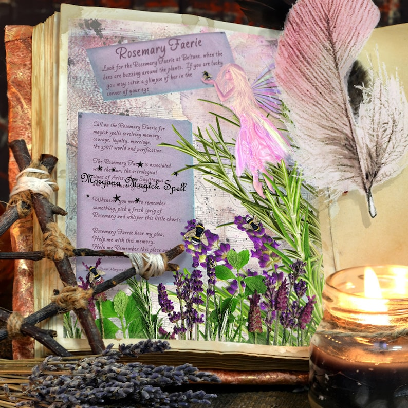 The ROSEMARY FAERIE Realm of the Fey Lore - Instant Download