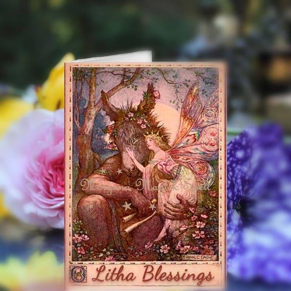 Printable Litha Blessings Card