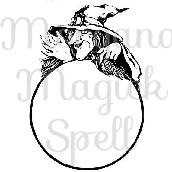 crystal ball witch pagan royalty free clipart illustration etsy rh etsy com crystal ball clipart free crystal ball cartoon clipart