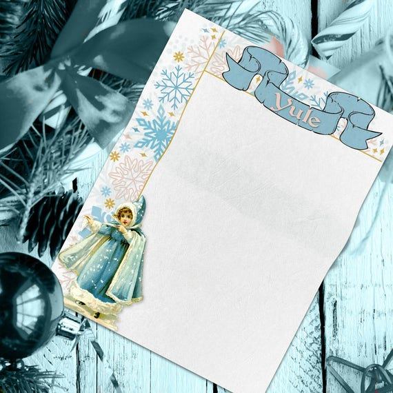 Yule Winter Snowflake Book of Shadows Page