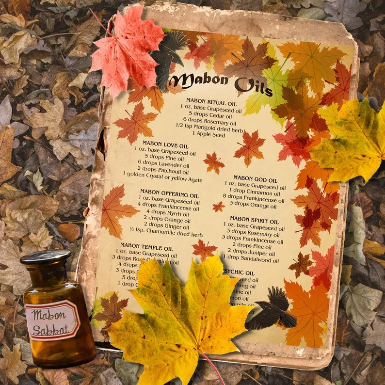 MABON MAGICK OILS Recipes for Wicca, Witchcraft - Instant Download
