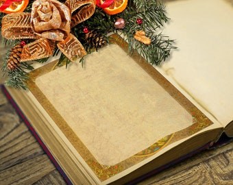 YULE WINTER SOLSTICE Blank Page, Digital Download, Blank Page,    Grimoire,  Magick Spells, White Magick, Wicca, Witchcraft, Pagan,