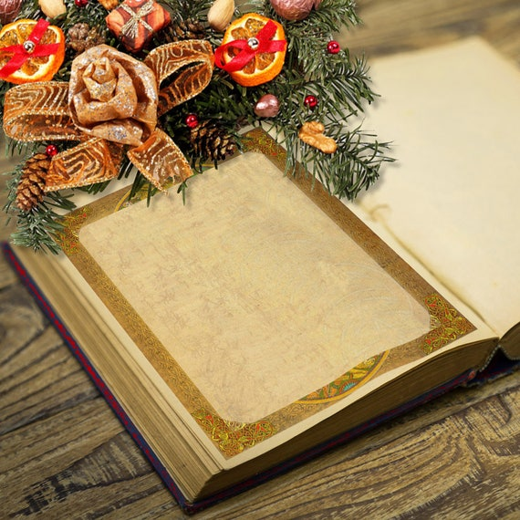Yule Winter Solstice Blank Page for Book of Shadows