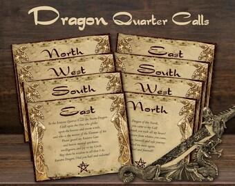DRAGON QUARTER CALLS    Cast a Magic Dragon Circle   Dragon Spell   Dragoon Magick   Call and Dismiss the Quarters   Magick Circle Ritual