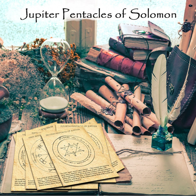 JUPITER PENTACLES of SOLOMON - from the most famous and important of all  Grimoires of Magic - Instant Download