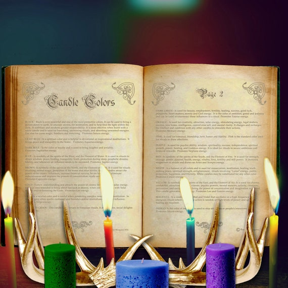 Candle Color Correspondences - 2 Pages