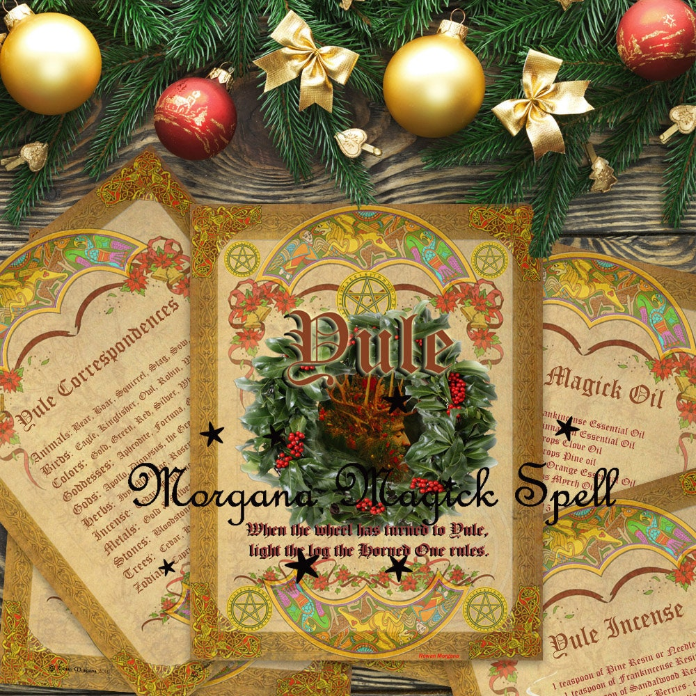 Yule Sabbat 5 Pages Winter Solstice Pagan Wicca Ritual Etsy