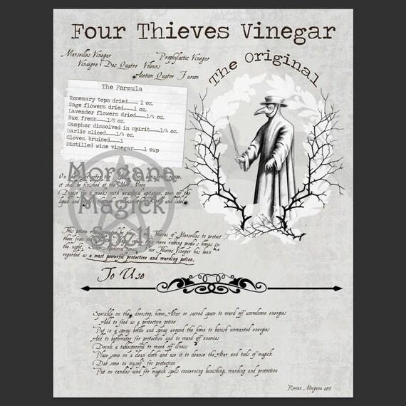 Four Thieves Vinegar & Label Sheet