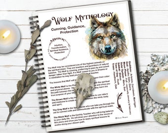 WOLF MAGICK Myths & Correspondences  Wolf Spell Magick   Wolf Totem   Wolf Spirit Animal   Printable Page   Spirit Guide   Wolf Symbolism