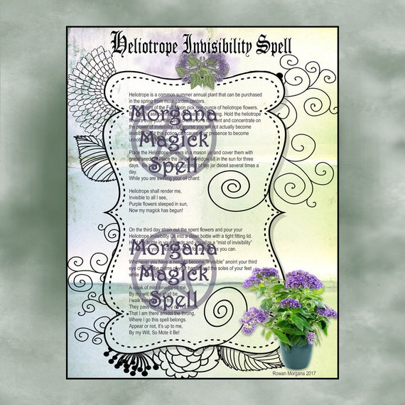 Heliotrope Invisibility Spell