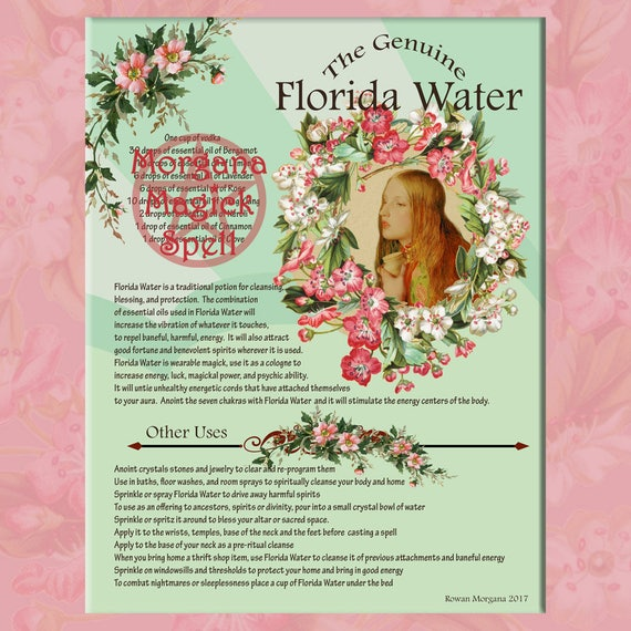 Florida Water Cologne & Label Sheet