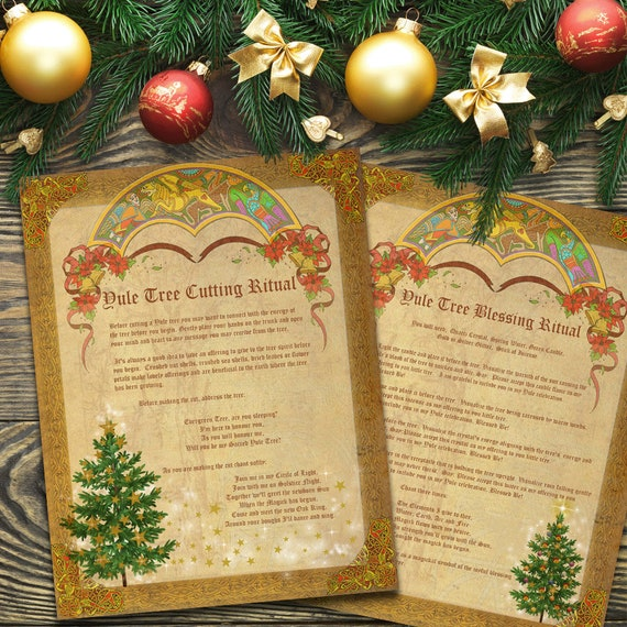 Yule Tree Cutting & Blessing Rituals  2 Pages