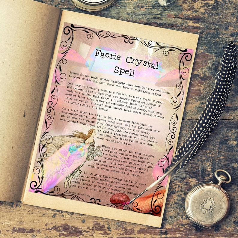 FAERIE CRYSTAL SPELL Realm of the Fey Lore - Instant Download