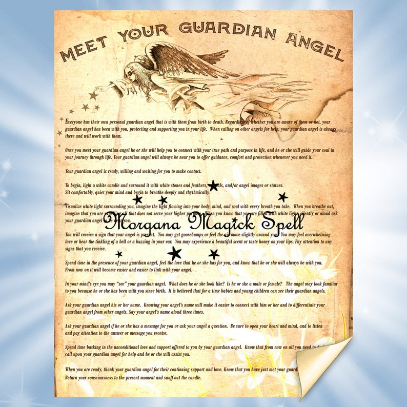 MEET Your GUARDIAN ANGEL Ritual - Instant Download