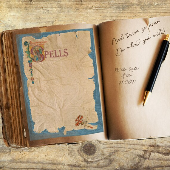 Ancient Spells  Book of Shadows Page