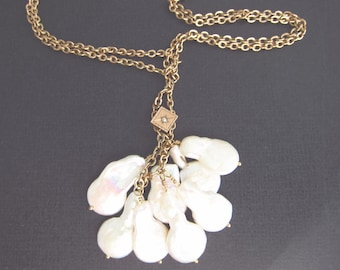 Antique gold Victorian Muff chain,  Opal pendant , estate jewelry, Two Girls Gem