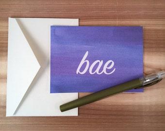 BAE Valentine's Day Card, Sassy Valentine's Day card, Watercolor Valentine's Day Card, Funny Valentine's Day Cards