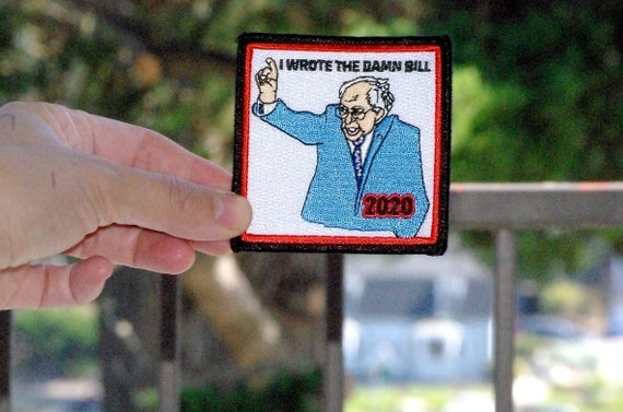 2020 Presidential Campaign Meme Embroidered Patch Bernie Sanders I Am Once Again Asking Handmade Products Charms
