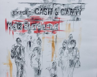 "South London' Peckham ""Cash and Carry Pen & Ink Original"