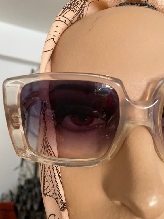 1960s Givenchy Tania  Rare Clear Perspex  Sunglas… - image 2