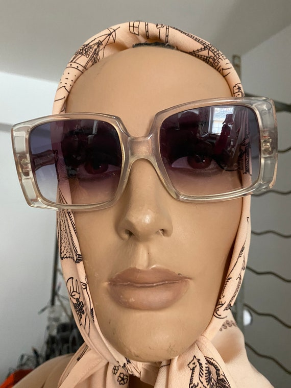 1960s Givenchy Tania  Rare Clear Perspex  Sunglas… - image 3