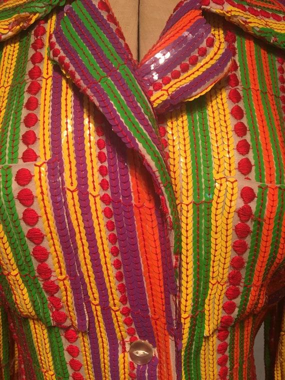 Thea Porter 1970s Rare Collectible Multi coloured… - image 2