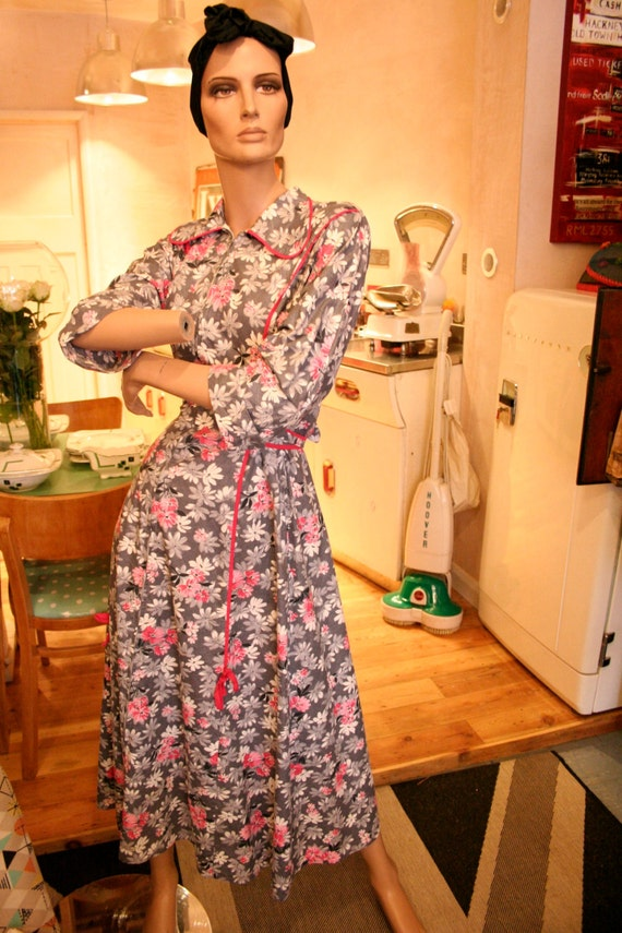 1950s Housecoat  Dress  12 UK