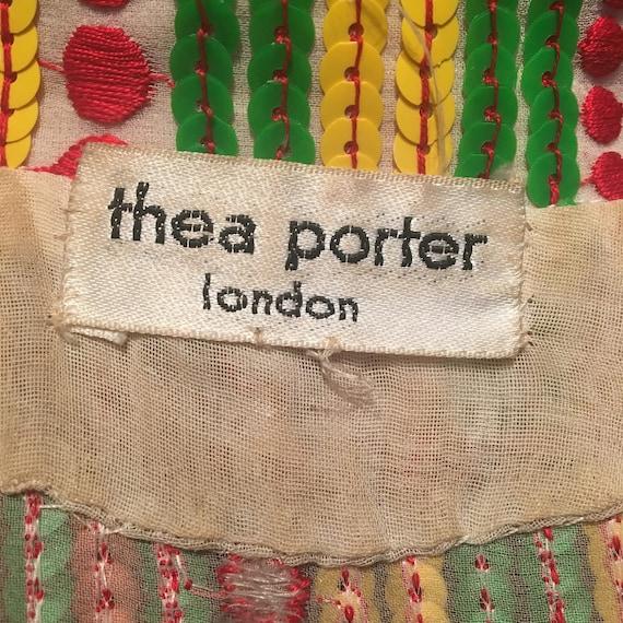 Thea Porter 1970s Rare Collectible Multi coloured… - image 7