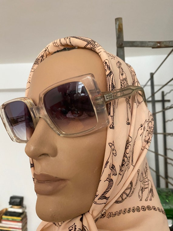 1960s Givenchy Tania  Rare Clear Perspex  Sunglas… - image 7