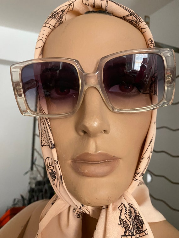1960s Givenchy Tania  Rare Clear Perspex  Sunglass